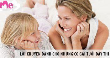 6 lời khuyên hữu ích dành cho những cô gái tuổi dậy thì