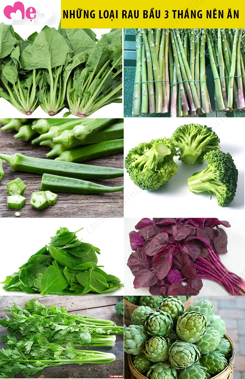 Các loại rau bà bầu nên ăn trong 3 tháng đầu