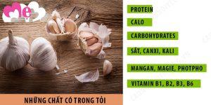 Những thành phần dinh dưỡng có trong tỏi