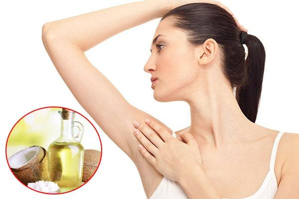 Dùng dầu dừa trị mùi hôi
