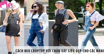 Cách mix croptop với chân váy siêu đẹp cho các nàng