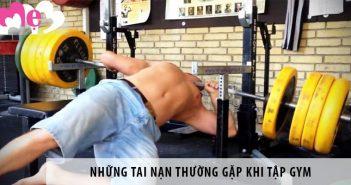 Những tai nạn thường gặp khi tập gym