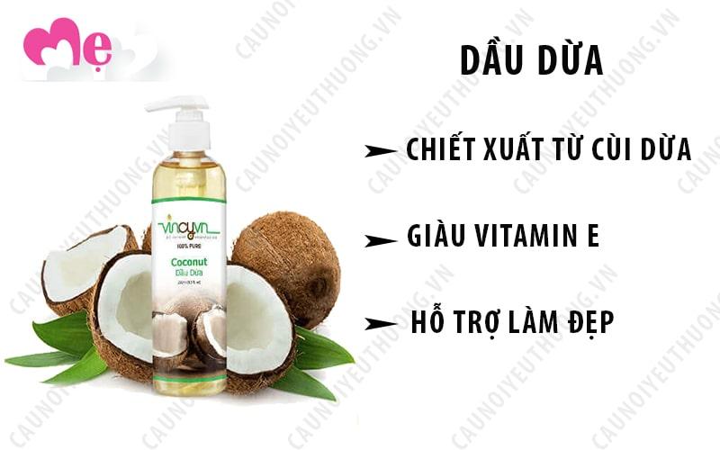 Dầu dừa được chiết xuất từ cùi dừa tươi