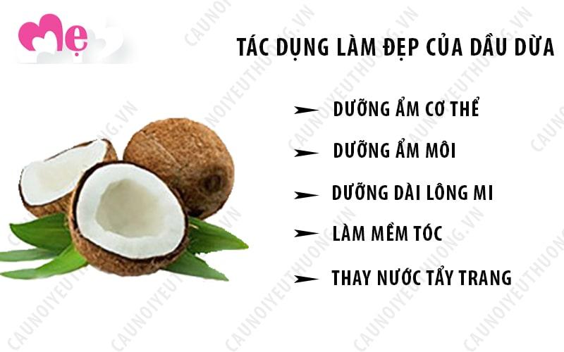 Những tác dụng làm đẹp của dầu dừa