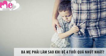 Ba mẹ phải làm sao khi bé 4 tuổi quá nhút nhát?