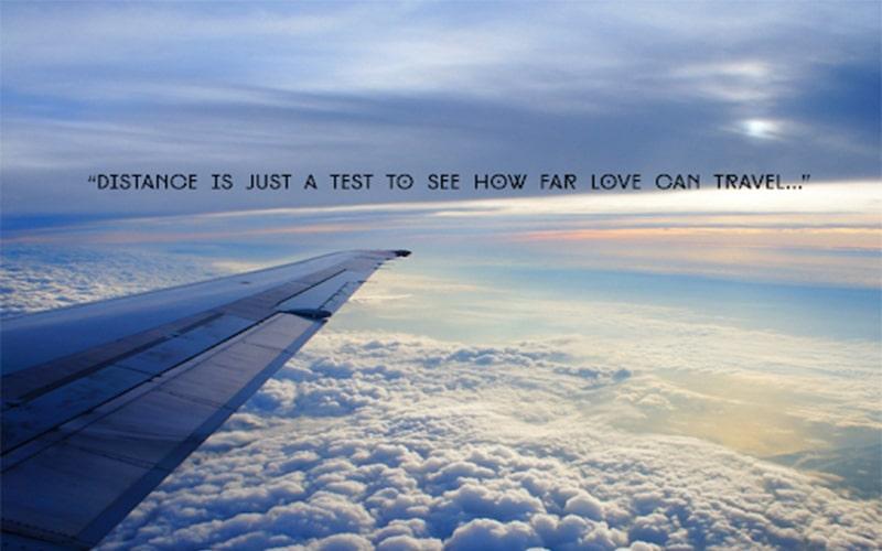 Khoảng cách chỉ là một thử thách xem quãng đường yêu đi được bao xa