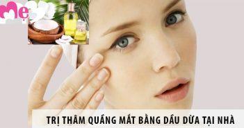 4 cách trị thâm quầng mắt bằng dầu dừa tại nhà