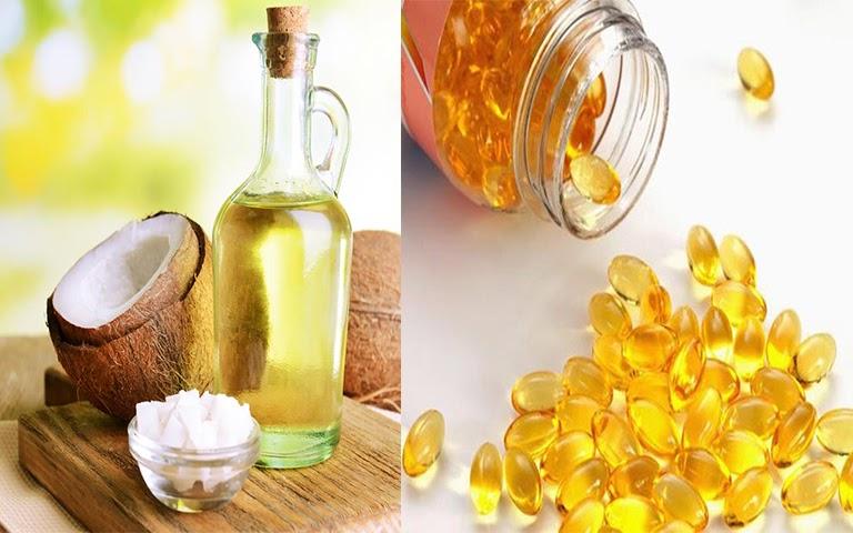 Dưỡng mi bằng dầu dừa và vitamin E