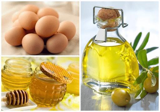 Dưỡng trắng da mặt bằng dầu dừa + mật ong + lòng đỏ trứng gà