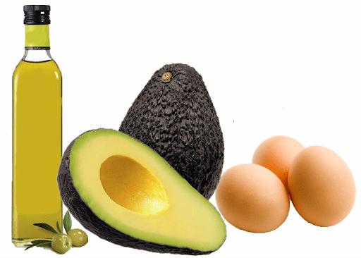 Mặt nạ tóc bằng bơ + dầu oliu + trứng gà
