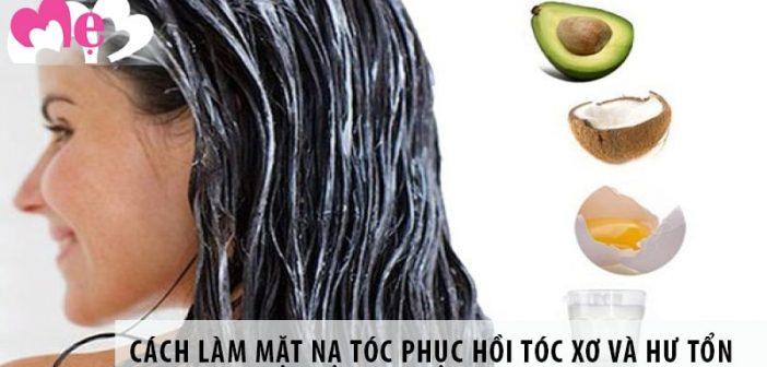 Cách làm mặt nạ tóc phục hồi tóc xơ và hư tổn tại nhà