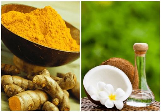 Trị nám da bằng dầu dừa và nghệ