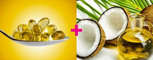 Trị nám da bằng dầu dừa và vitamin E