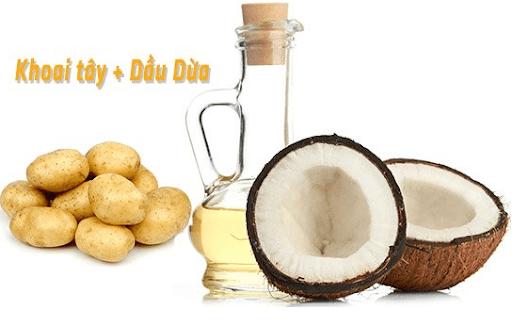 Trị nám da bằng dầu dừa và khoai tây