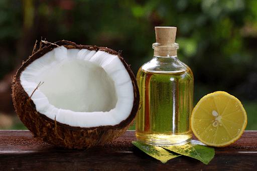 Chữa rụng tóc bằng dầu dừa + chanh