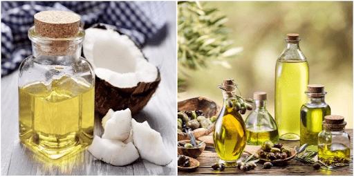 Chữa rụng tóc bằng dầu dừa + dầu ô liu