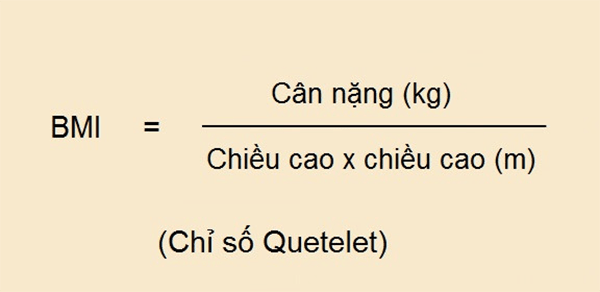 Công thức BMI Quetelet