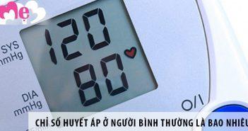 Chỉ số huyết áp ở người bình thường là bao nhiêu?