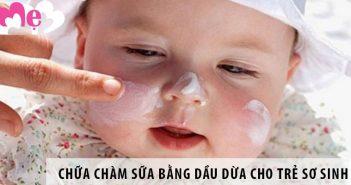 Chữa chàm sữa bằng dầu dừa an toàn cho trẻ sơ sinh