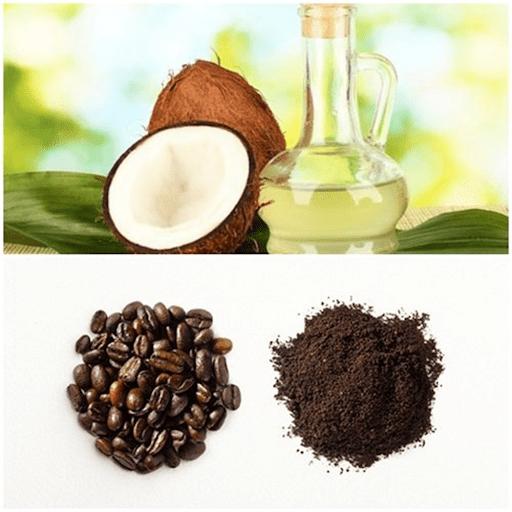 Làm mặt nạ dưỡng da bằng dầu dừa và cà phê