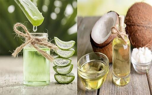 Mặt nạ dưỡng da từ dầu dừa và nha đam