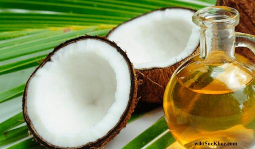 Se khít lỗ chân lông với dầu dừa nguyên chất