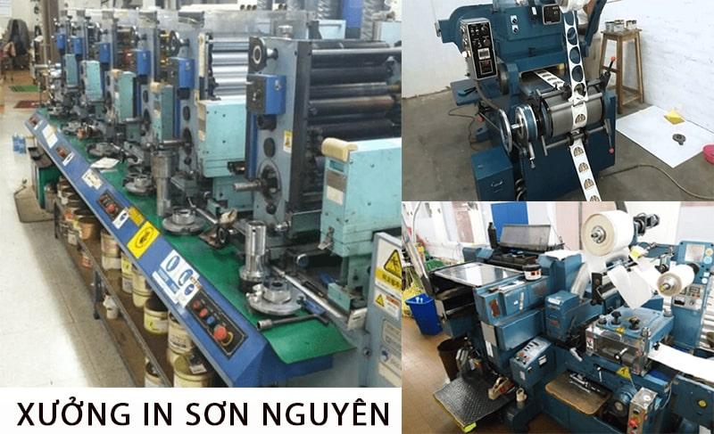 Xưởng in tại công ty Sơn Nguyên