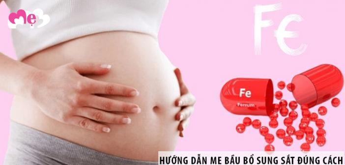 Hướng dẫn mẹ bầu uống sắt đúng cách khi mang thai