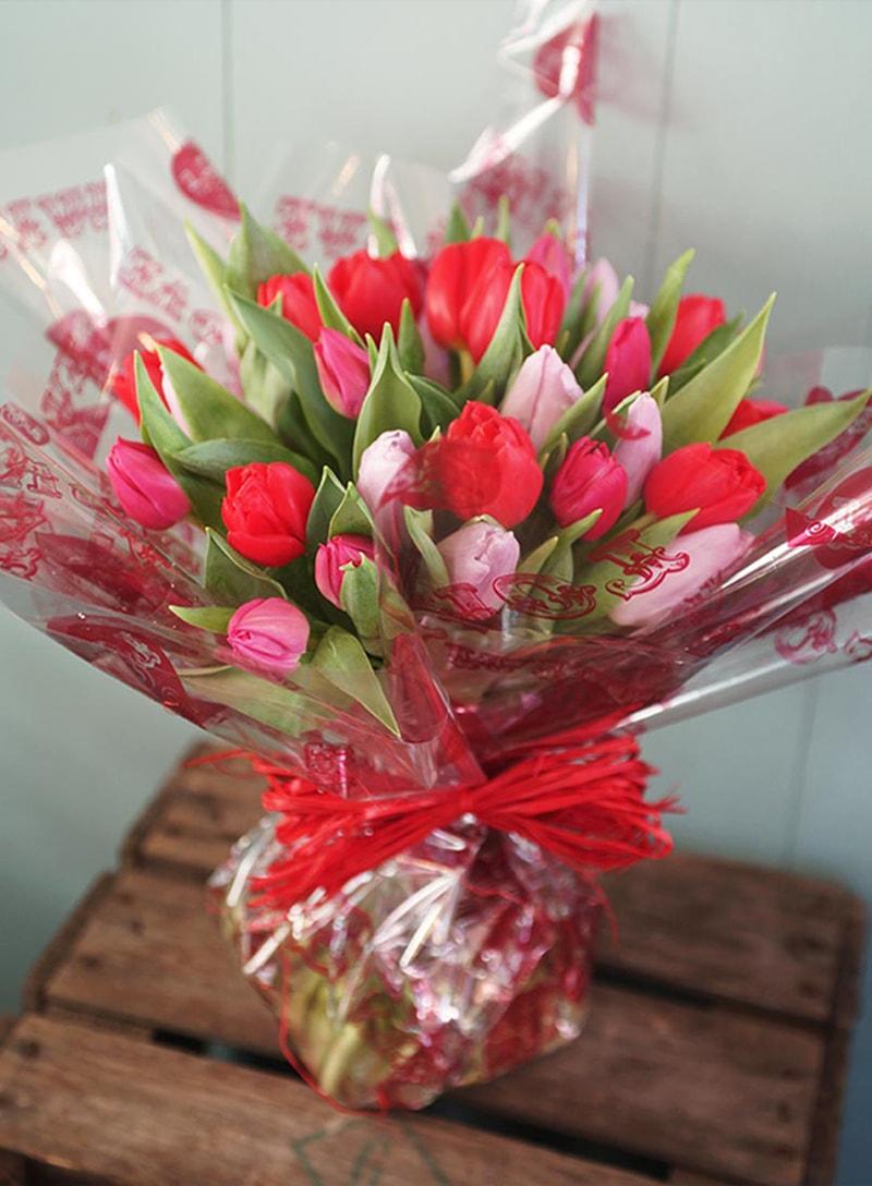 Hoa tulip cũng được coi là biểu tượng của tình yêu chân thành