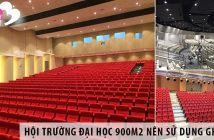 Thiết kế hội trường đại học 900m2 nên sử dụng ghế gì?