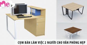 Top 3 cụm bàn làm việc 2 người ngồi cho văn phòng hẹp