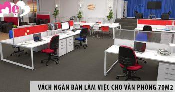 Mua vách ngăn bàn làm việc cho văn phòng diện tích 70m2