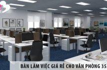 Mua bàn làm việc nhân viên giá rẻ cho văn phòng 35m2
