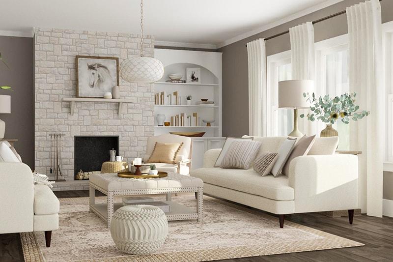 Thảm trải sàn nhà là vật dụng nên có trong phòng khách